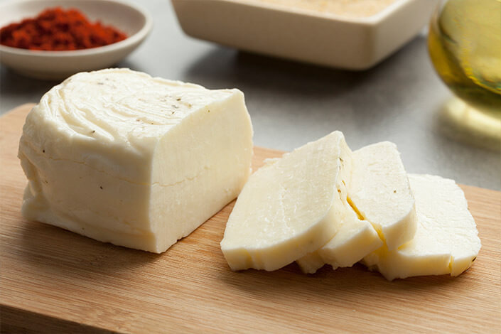 Fresh Sliced Halloumi Cheese from Cyprus