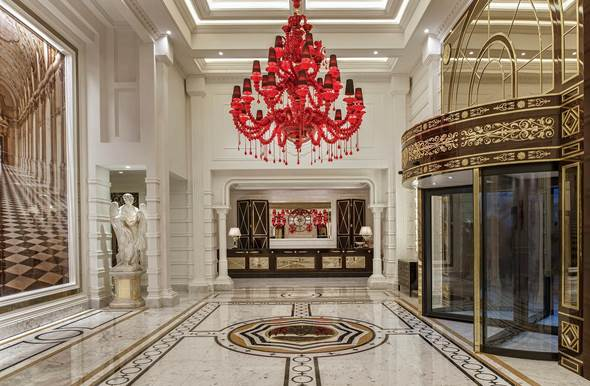 luxury chandelier hotel picture