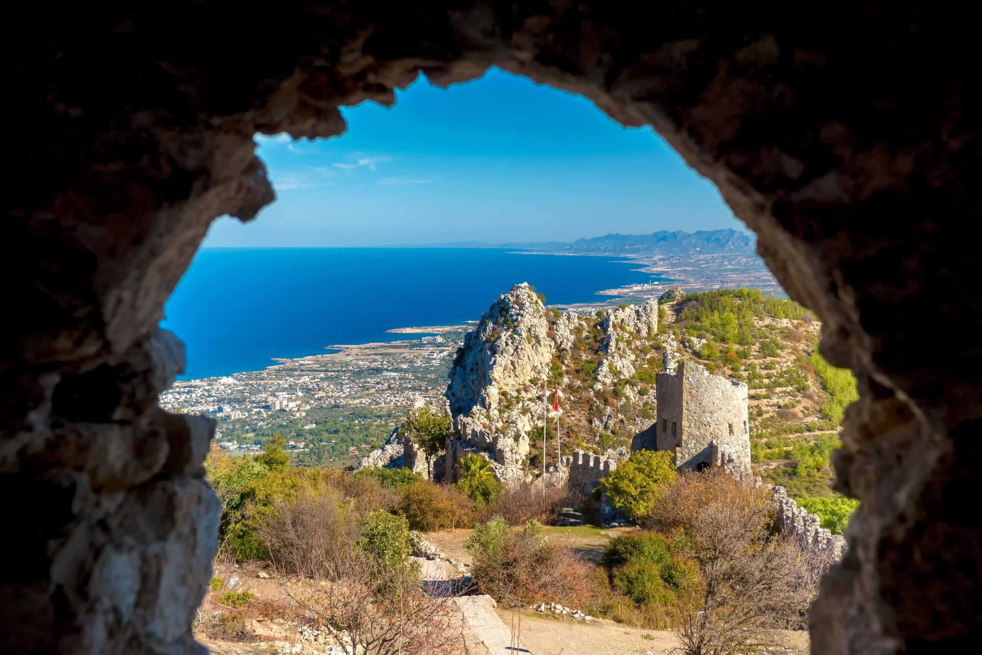 kyrenia castle amazing sea view